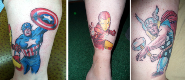 Marvel Heroes Tattoo Sleeves