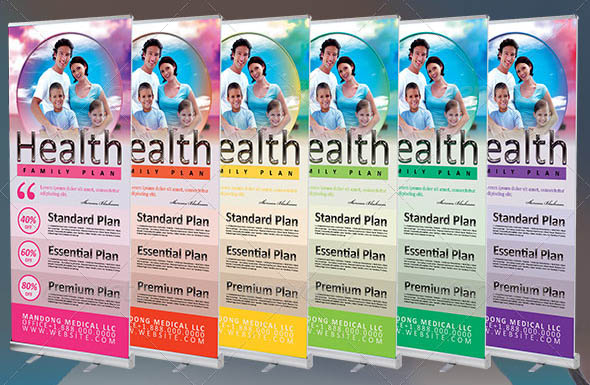 Medical Health Plan Banner Template