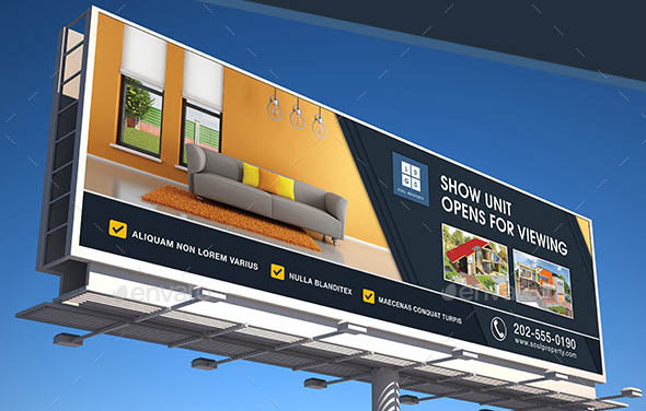 Real Estate Billboard Backdrop Rollup Design