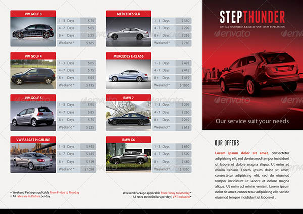 Rent A Car Trifold Brochure 02
