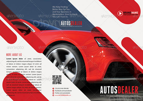 Car wash flyer template car wash tri fold brochure for Automobile brochure design