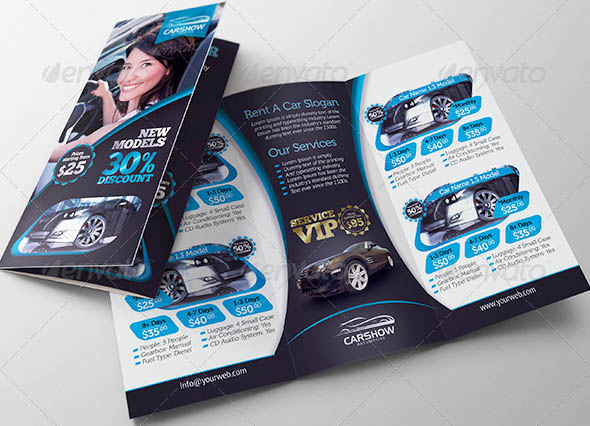 Car Wash A3 Tri Fold Brochure