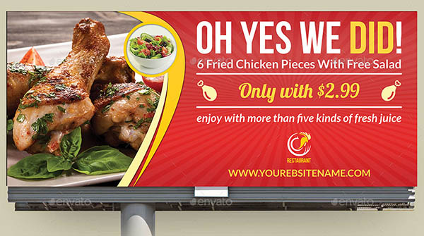20 Beautiful Restaurant Banner Amp Billboard Templates