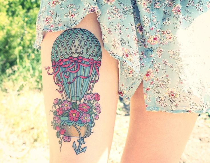 Sexy Air Balloon Tattoo