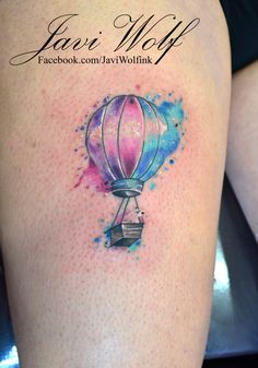Watercolor Balloon Tattoo