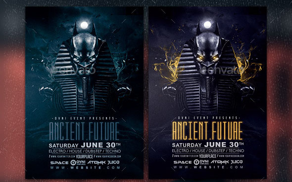 Ancient Future Abstract Flyer Template