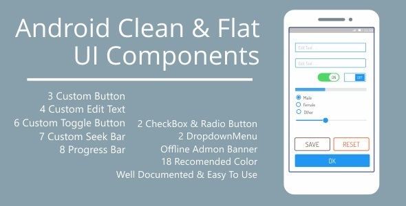 Android Clean Flat UI Components