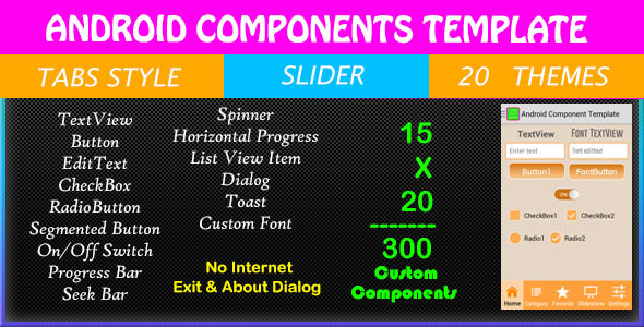 Android Components Template