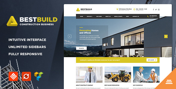 BestBuild Construction Building WP Theme