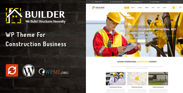Builder WP Theme for Construction Business