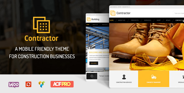 Contractor Construction Building Company Theme