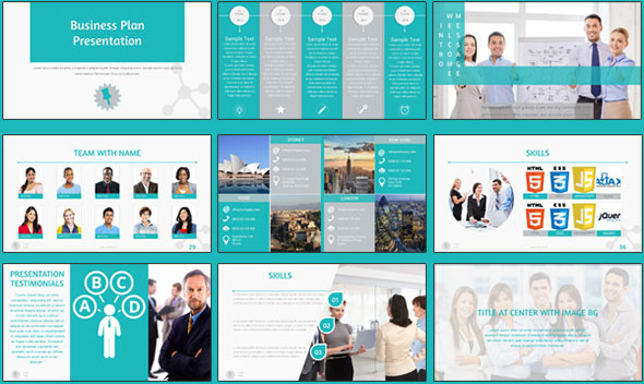Flat Presentation Business Multipurpose PowerPoint
