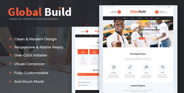 Global Build Construction WordPress Theme