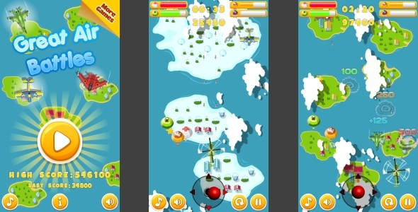 Great Air Battles HTML5 Mobile Game Capx
