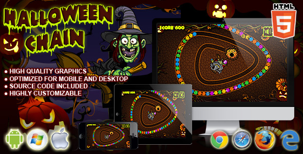 Halloween Chain HTML5 Game