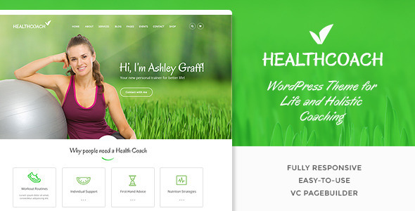 Health Coach | WP Theme for Holistic Life Coaching