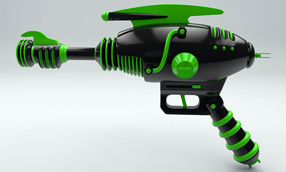 High Poly Alien Gun