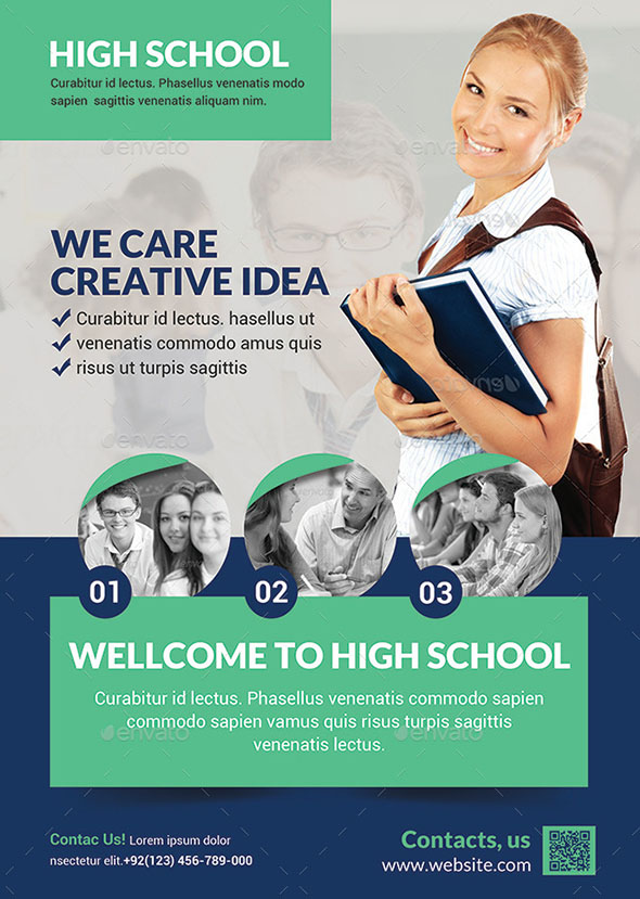 40 cool flyer templates for kid  u0026 school  u2013 desiznworld