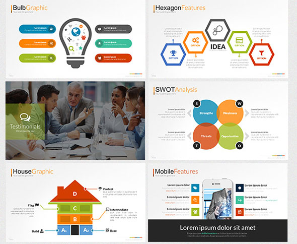 idea presentation template, Modern powerpoint