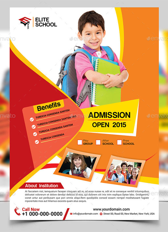 Cool Flyer Templates For Kid  School  Desiznworld