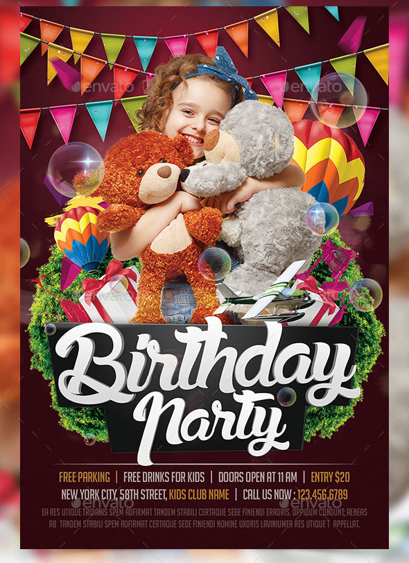 Birthday Flyers Template Birthday Celebration Flyer Template Best