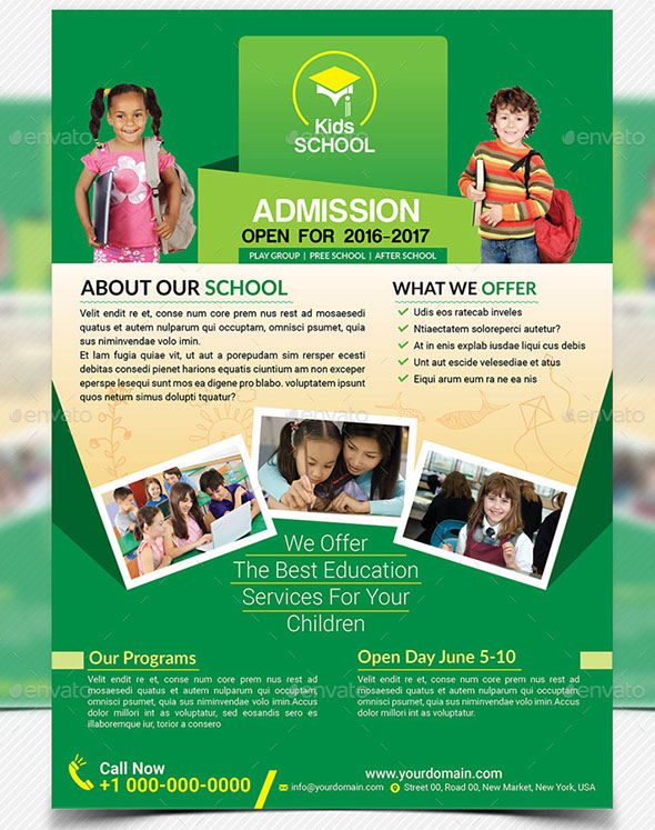 School Flyer Templates Pasoevolistco - High school brochure template