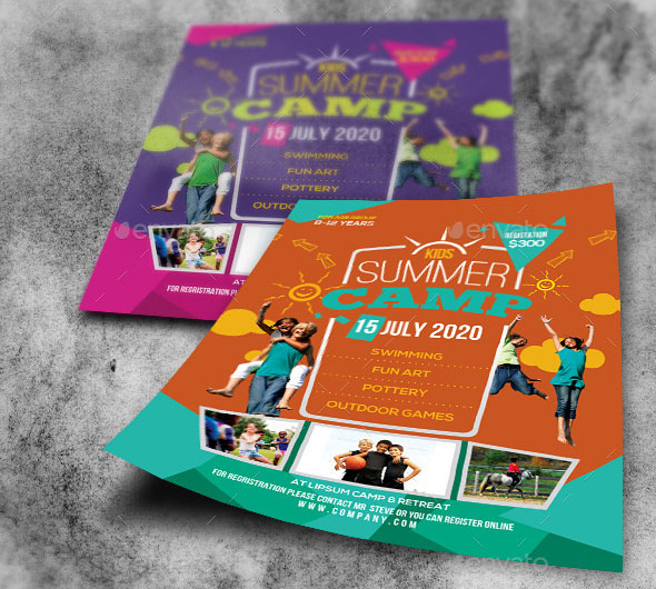 40 cool flyer templates for kid school desiznworld