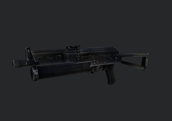 Low Poly PP-19 Bizon SMG