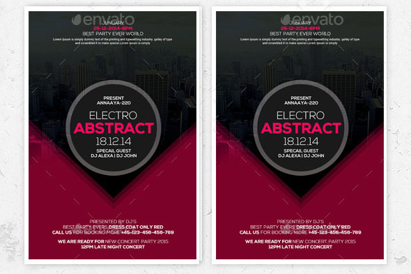 Minimal Abstract Flyers Bundle 01