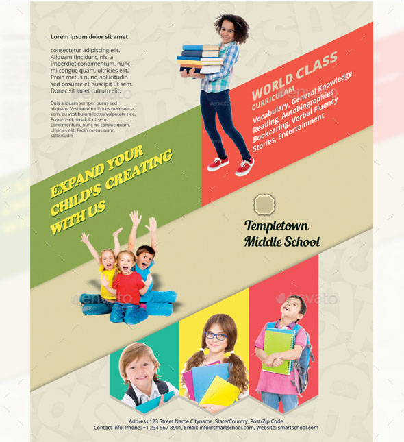 20 cool flyer templates for kid school desiznworld