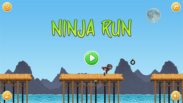 Ninja Run HTML5 Mobile Game (Capx)