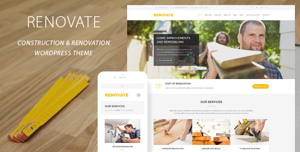 Renovate Construction Renovation WordPress Theme