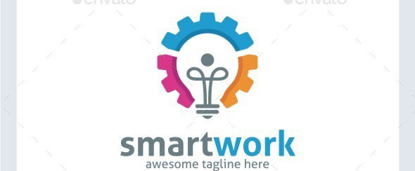 Smart Work Logo Template