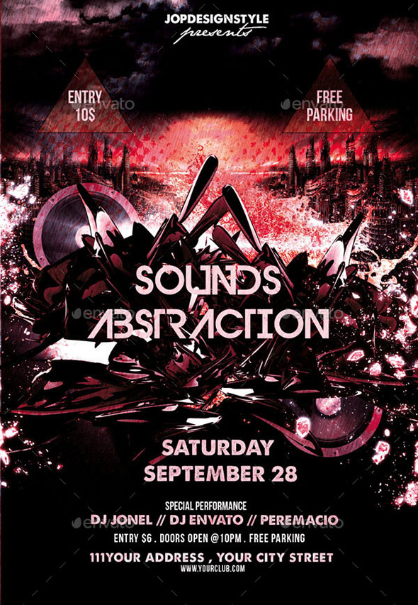 Sounds Abstraction Flyer