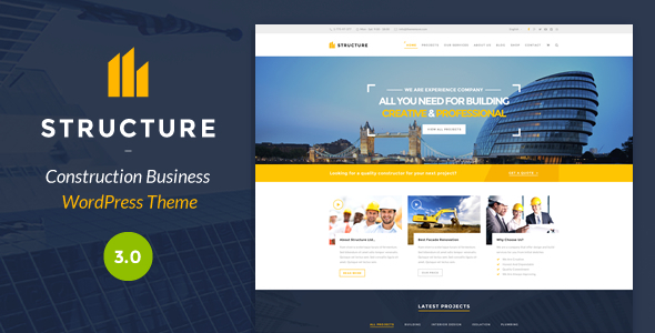 Structure Construction WordPress Theme