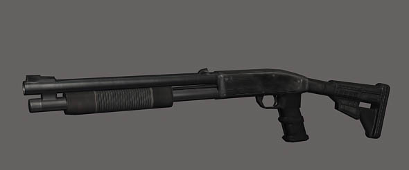 Tactical Shoot-Gun eitable 3ds max and obj file