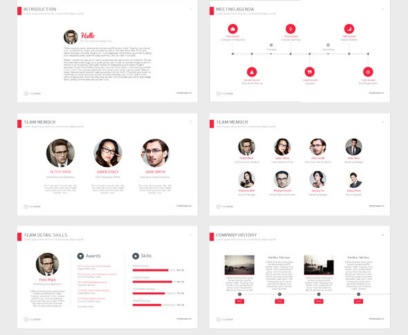 The Paper Powerpoint Presentation Template
