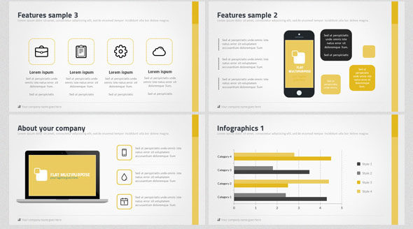 Ultimate Flat Style PowerPoint Bundle Pack
