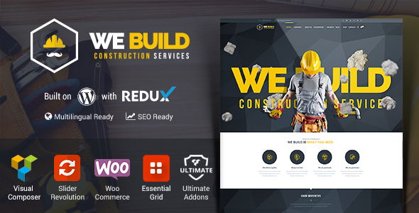We Build Construction Building WP Theme
