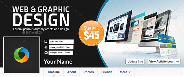 Web Design Facebook Covers 2 Designs