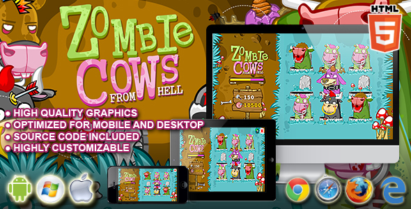 Zombie Cows HTML5 Game