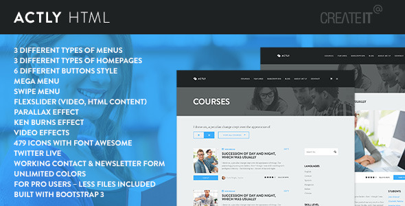 Actly Educational Responsive HTML Template