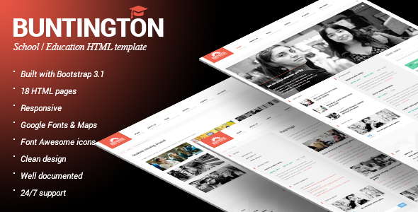 Buntington Education HTML Template