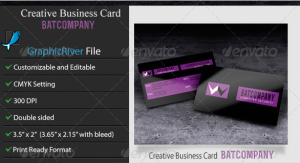 Creative or Corporate Business Card–Batcompany