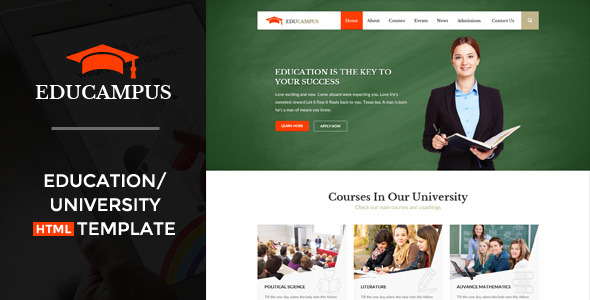 Educampus Education University HTML Template