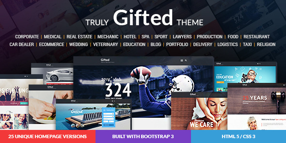 Gifted Multi-Purpose HTML5 Website Template