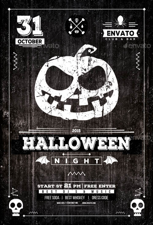 Halloween Night Vintage Flyer