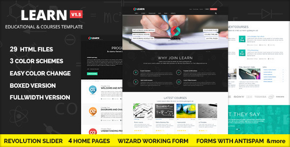 LEARN Courses Workshop Educational template