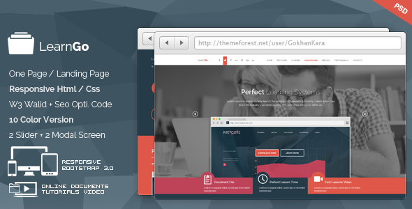 LearnGo Education Learning Html Landing Page