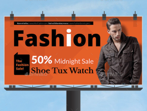 Men Fashion Style Clothing Billboard